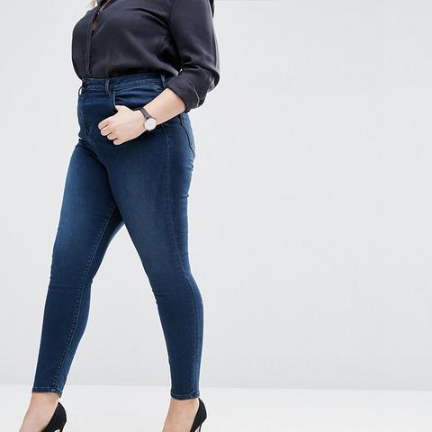 High Waist Ridley Skinny Jeans In London Blue Minx Wash