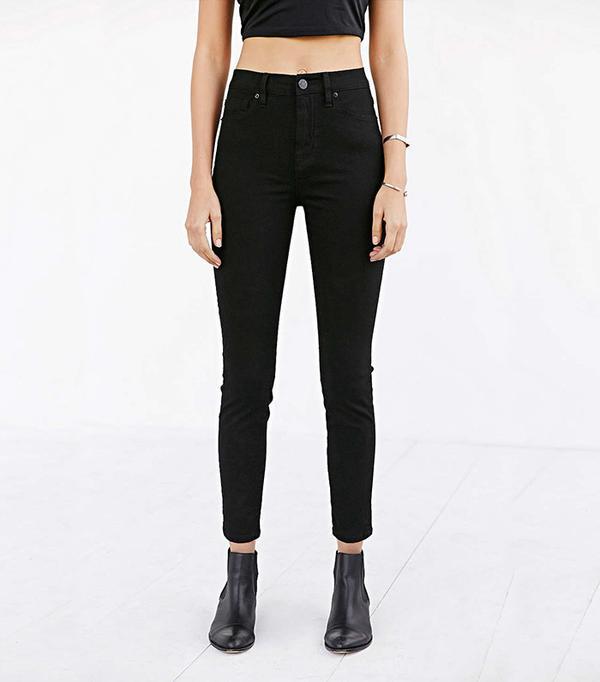 BDG Twig Grazer High-Rise Skinny Jean in Black