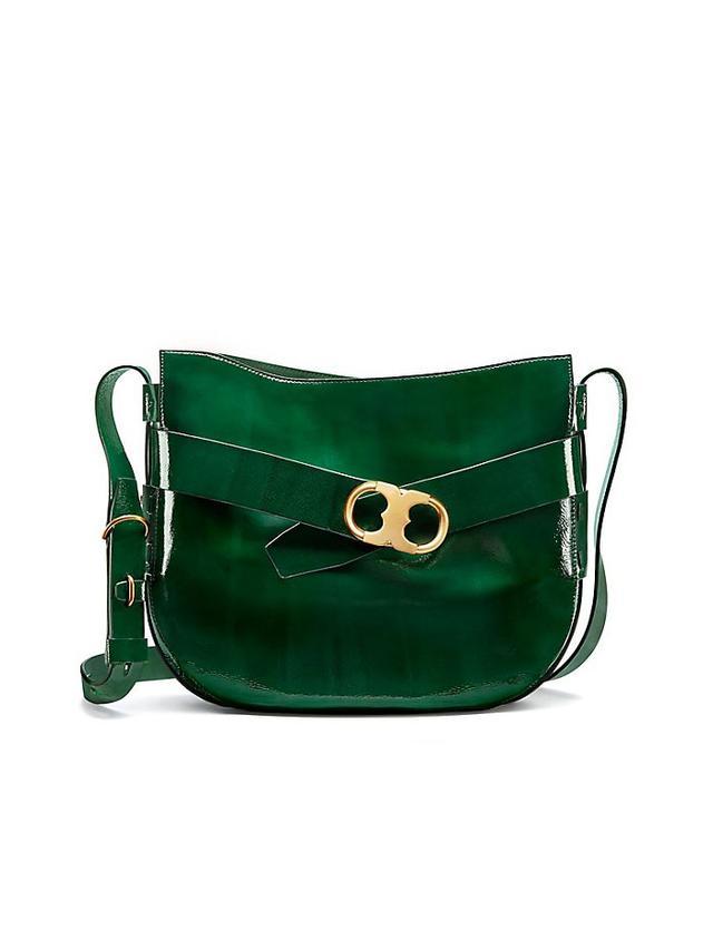 Tory Burch Gemini Link Patent Shoulder Bag