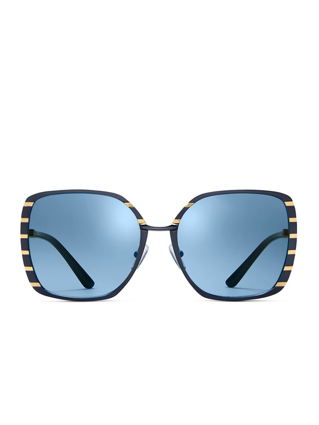 Tory Burch Square Slim-Frame Sunglasses