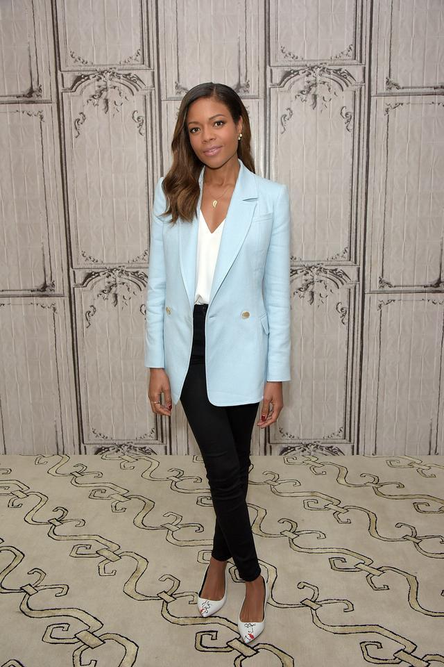 Naomie Harris J Brand Maria Super Skinny Jeans