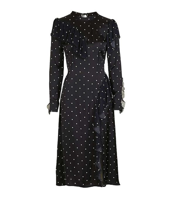 Topshop Boutique Polka Deconstructed Dress