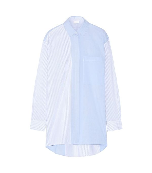 DKNY Striped Cotton-Poplin Shirt
