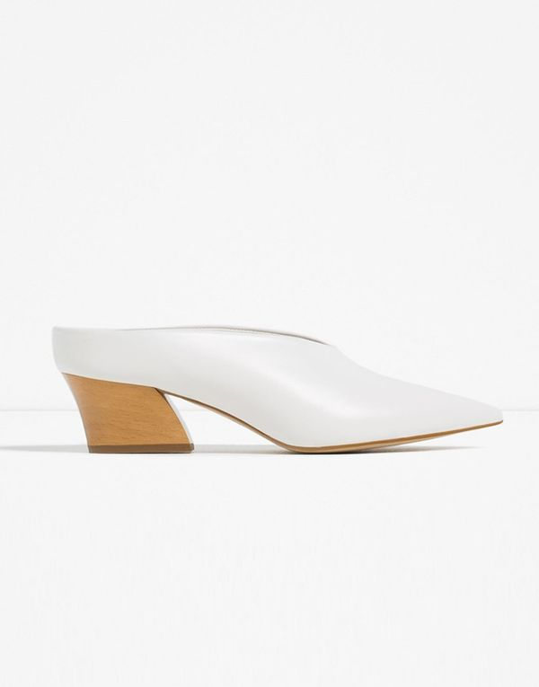 Zara Leather Mule Shoes