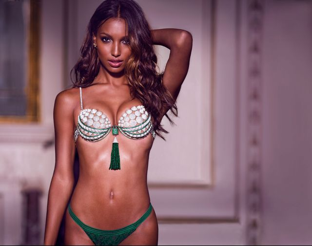 Jasmine Tookes wearing the 2016 Victoria's Secret Fantasy Bra.