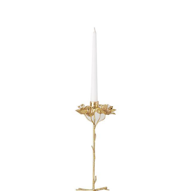 floral gold candleholder