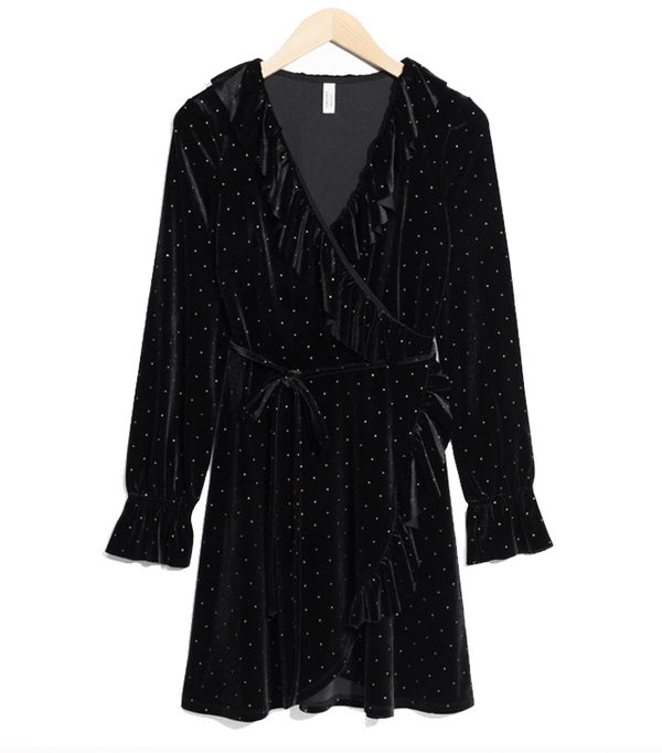 best New Year's Eve dresses: & Other Stories Velvet Frills Wrap Dress