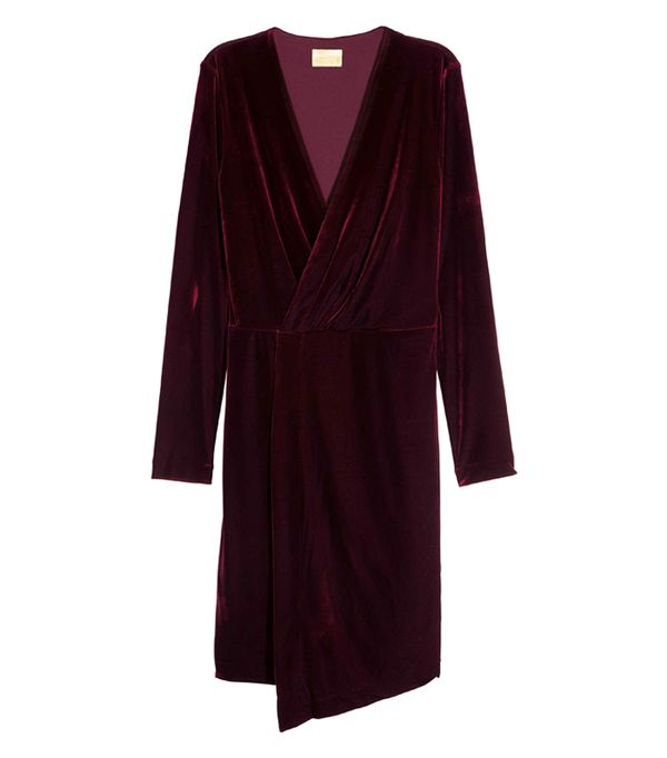 best New Year's Eve dresses: H&M Velour Dress