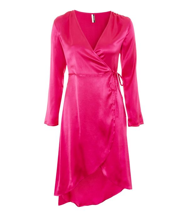 best New Year's Eve dresses: Topshop Satin Kimono Robe Wrap Dress