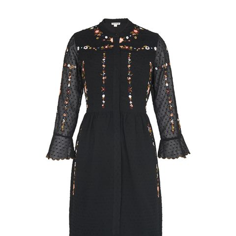 Amira Embroidered Shirt Dress