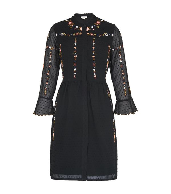 best new year's eve dresses: Whistles Amira Embroidered Shirt Dress