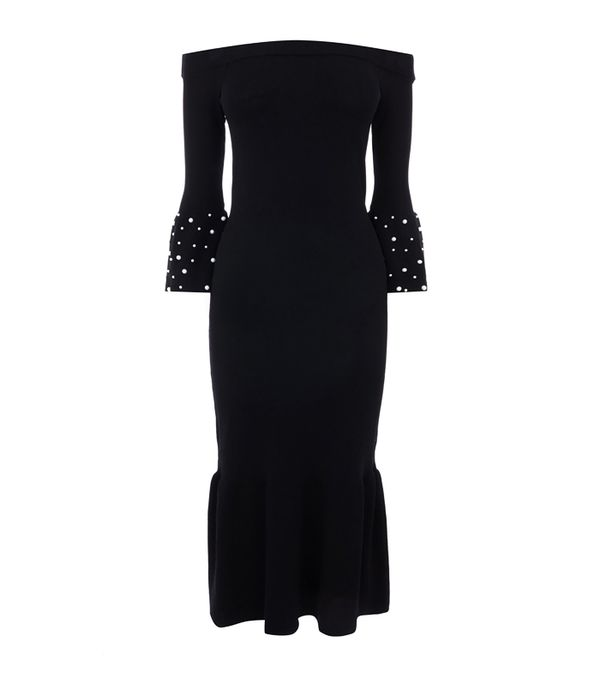 best new year's eve dresses: Warehouse Pearl Cuff Dress