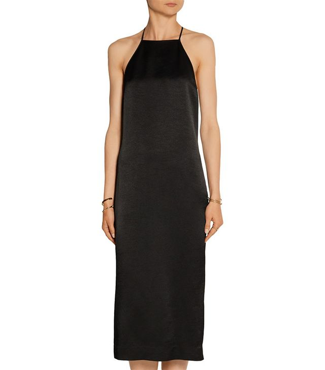 Edun Satin-Crepe Dress