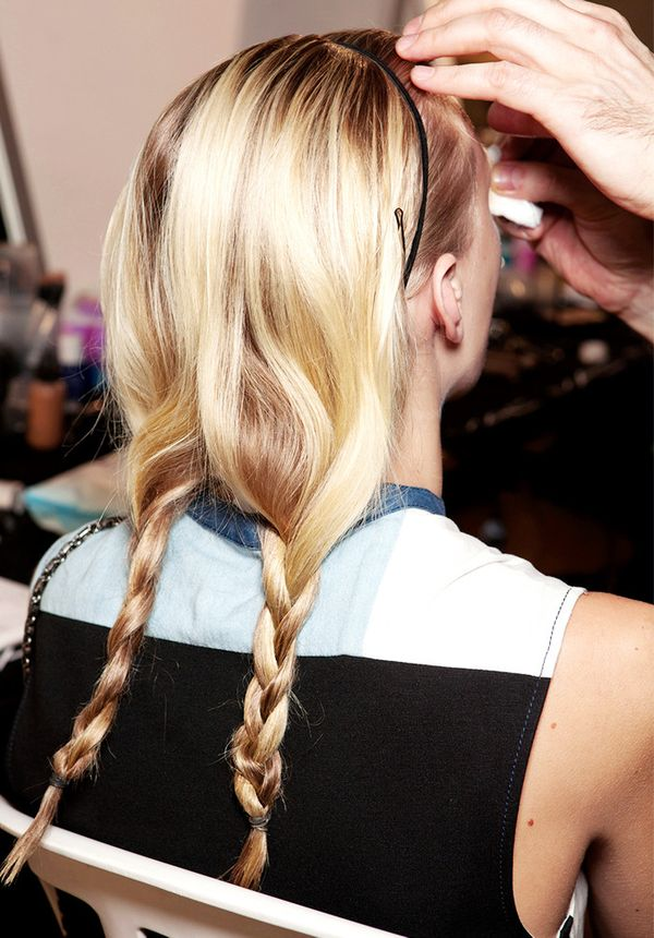 Loose Braided Pigtails