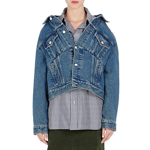 Off-the-Shoulder Denim Jacket