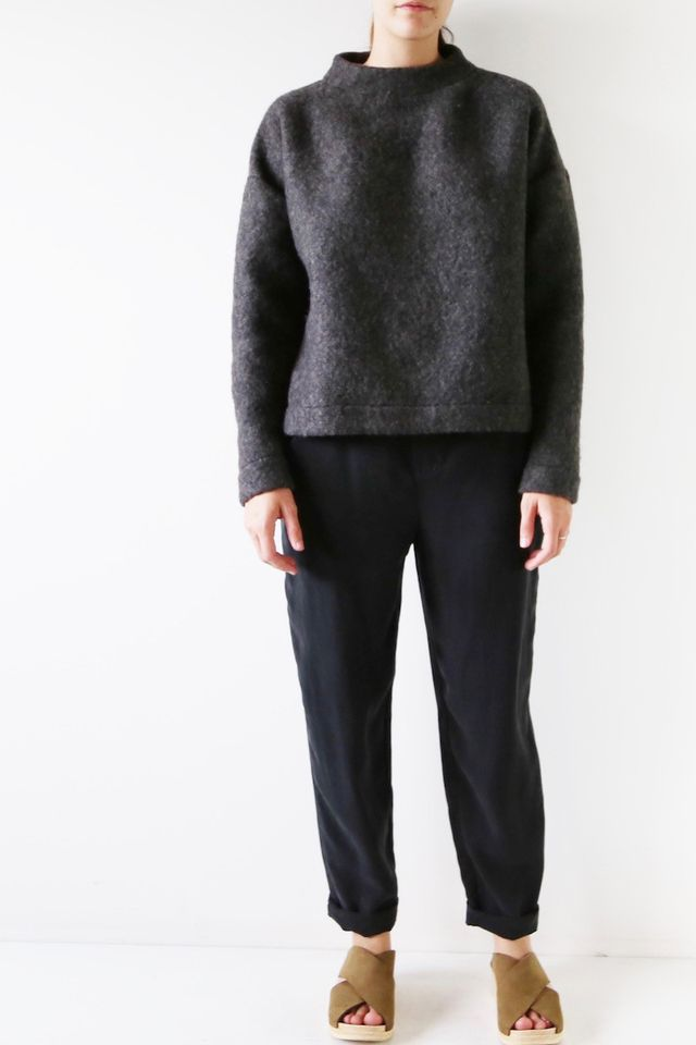 Hackwith Design House Mock Neck Sweater