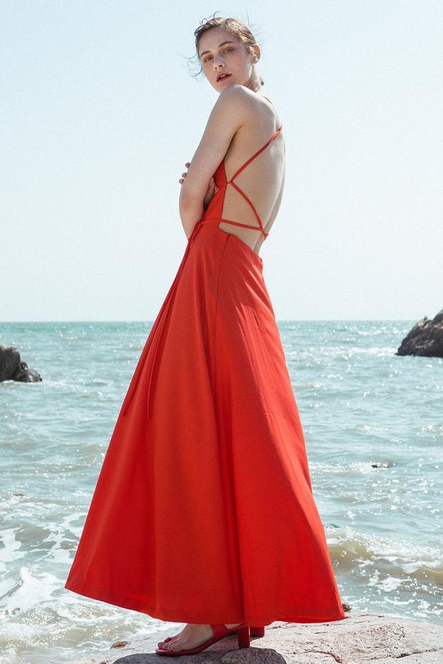 Cecilie Copenhagen O-Neck Long Sleeve Waist Dress
