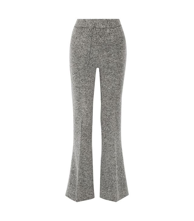 By Malene Birger Vassionah Boiled Wool-Blend Flared Pants