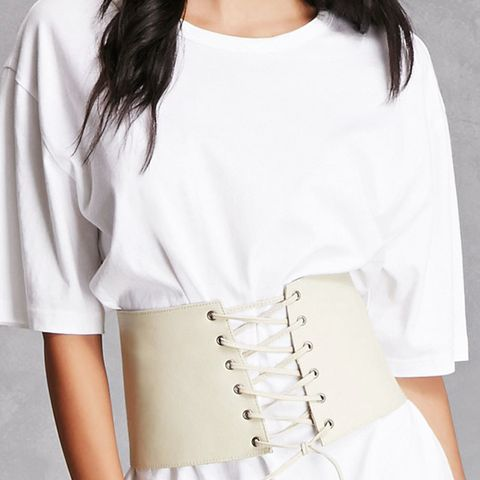 Lambskin Lace-Up Corset