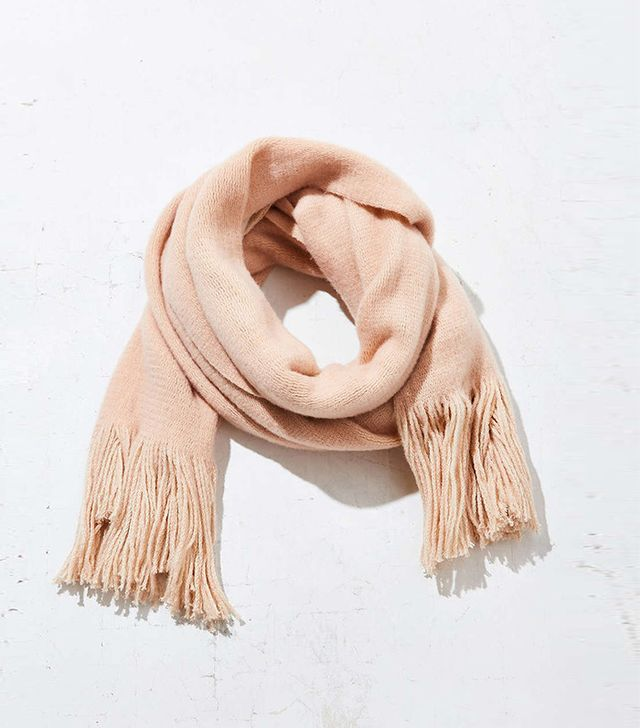 Urban Outfitters Extra Large Cozy Fringe Scarf