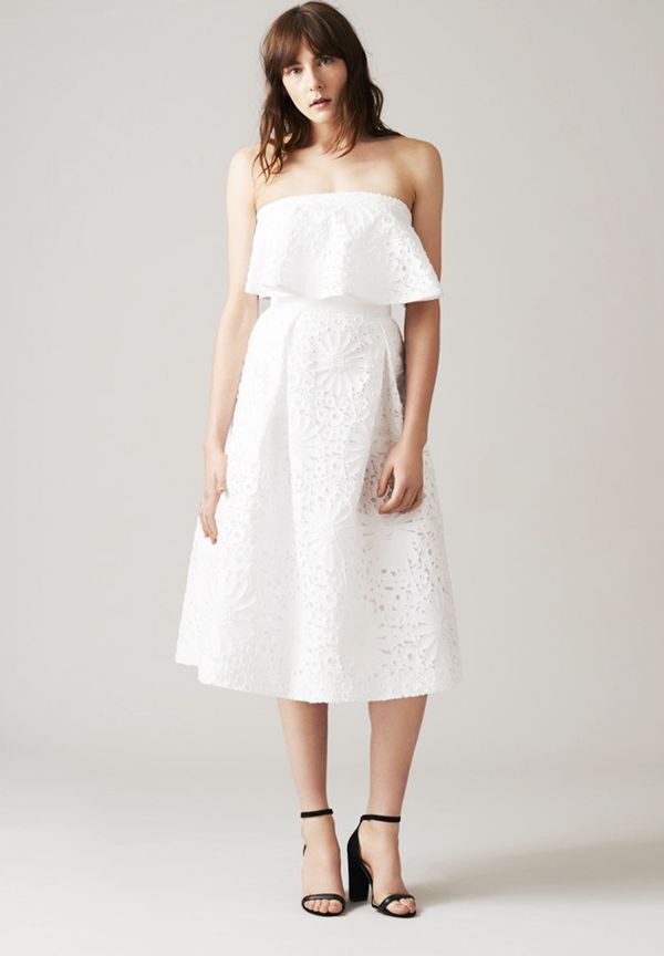 Don't fancy a long dress for your big day? This sweet frock could just be what you're after.
