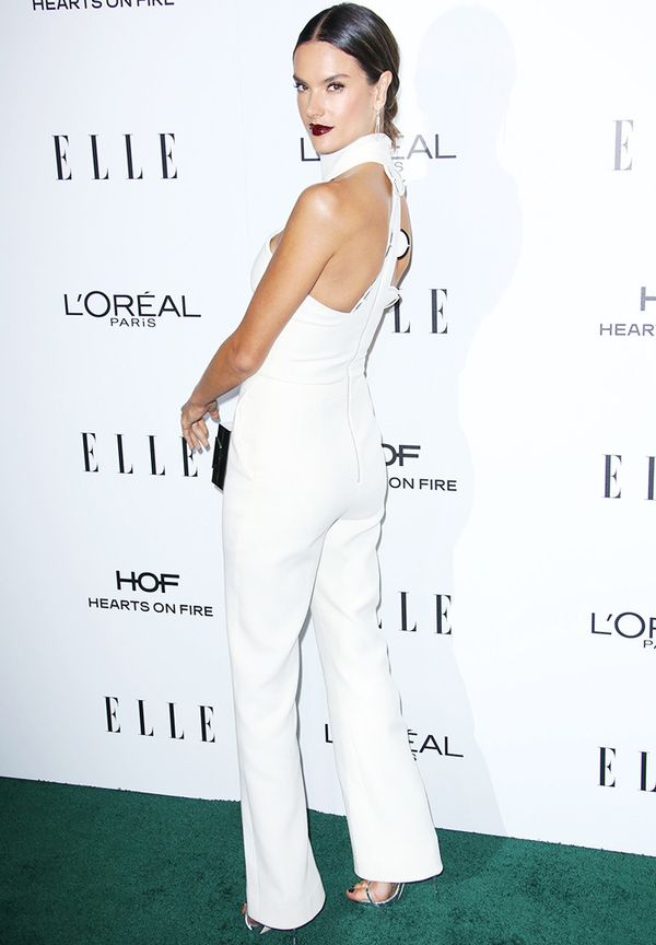 WHO: Alessandra Ambrosio WHAT: ELLE Women in Hollywood, Los Angeles WEAR: In a David Koma jumpsuit.