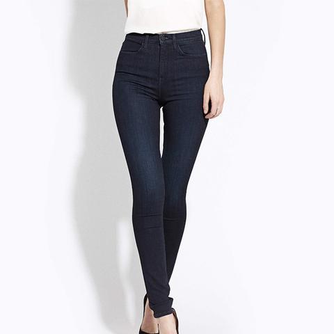 High Rise Skinny Jeans in Jaguar Legs