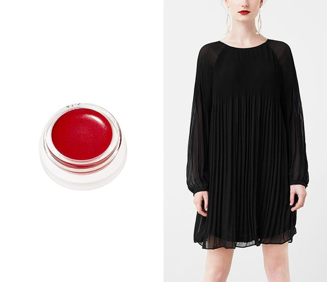 Mango Pleated Dress