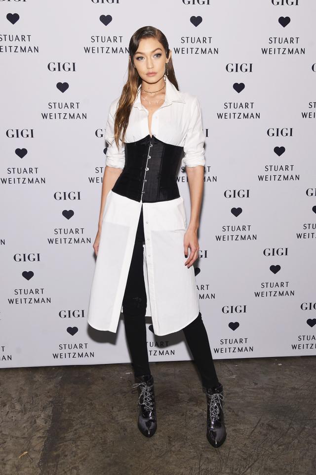 On Gigi Hadid: Stuart Weitzman The Gigi Boots($565).