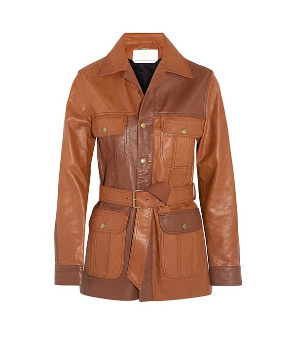 Chloe Belted Leather Jacket