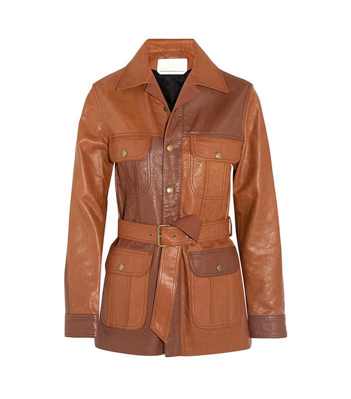 Chloe Belted Leather Jacket