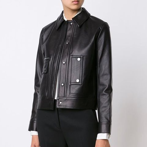 Pocketed Cropped Jacket