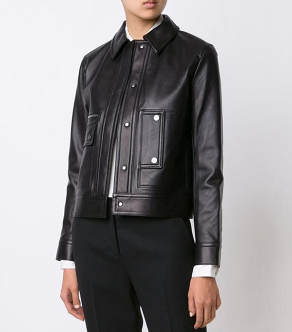 Helmut Lang Pocketed Cropped Jacket