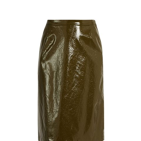 Cynthia Patent Faux-Leather Pencil Skirt