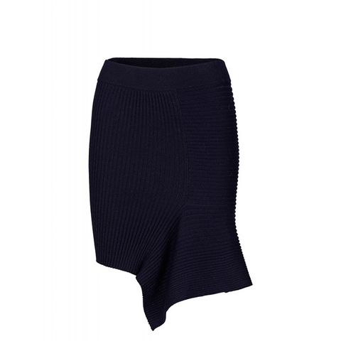 Ribly Drape Skirt Rib Knit Drape Skirt