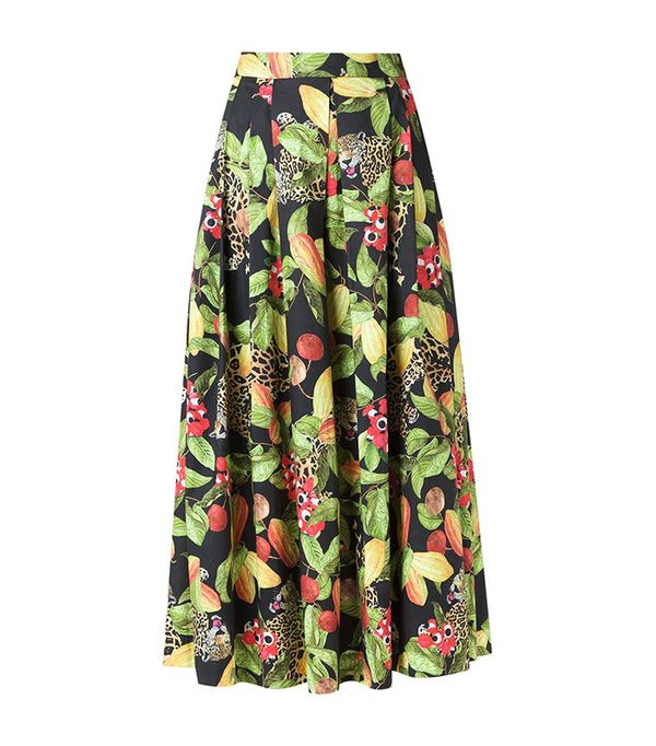 Isolada Printed Midi Skirt