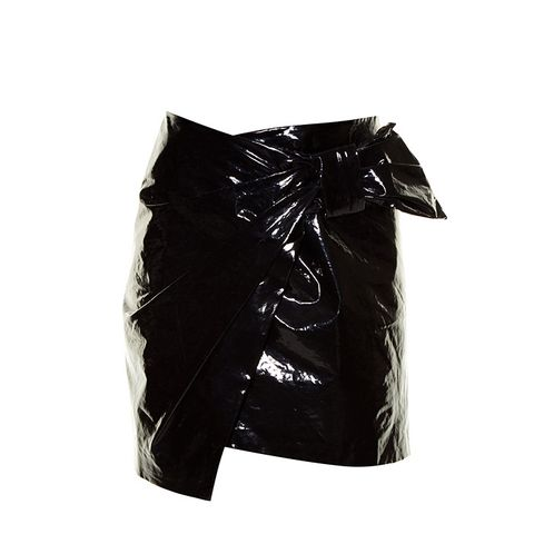 Anders Faux Patent-Leather Mini Skirt