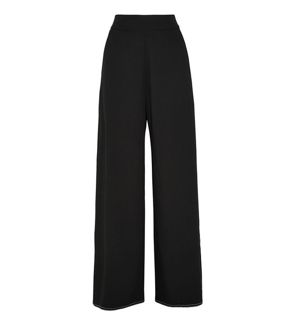 Beaufille Ursa Piqué Wide-Leg Pants