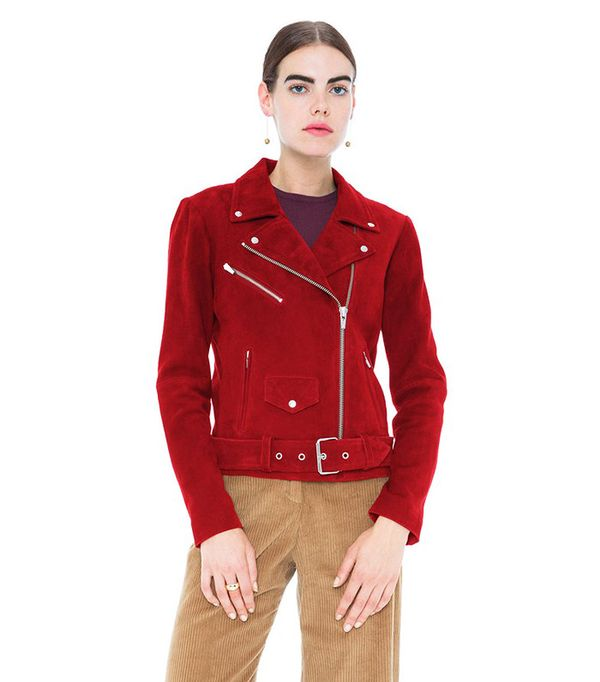 Veda Jayne Suede Jacket Crimson