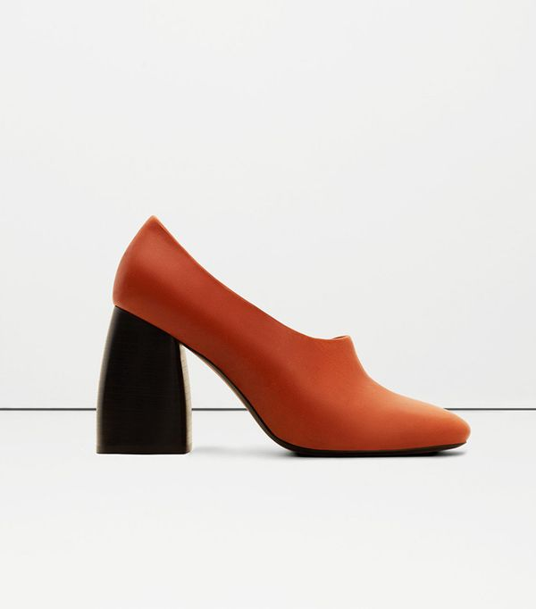 Mango Heel Leather Shoes
