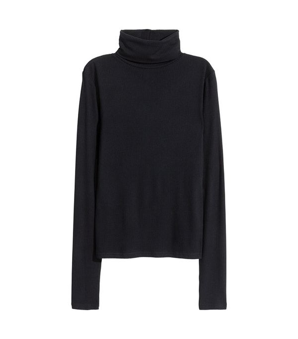 H&M Ribbed Turtleneck Top
