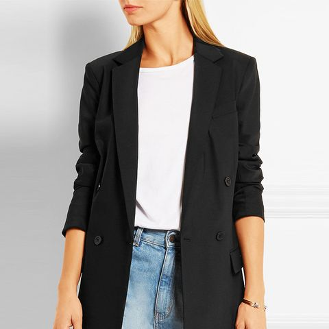 Double-Breasted Stretch-Wool Blazer