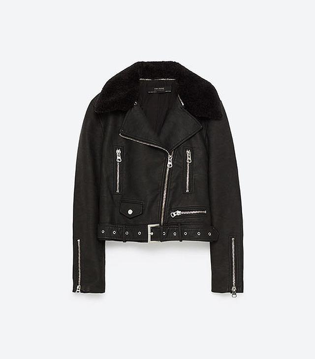 Zara Leather Effect Jacket