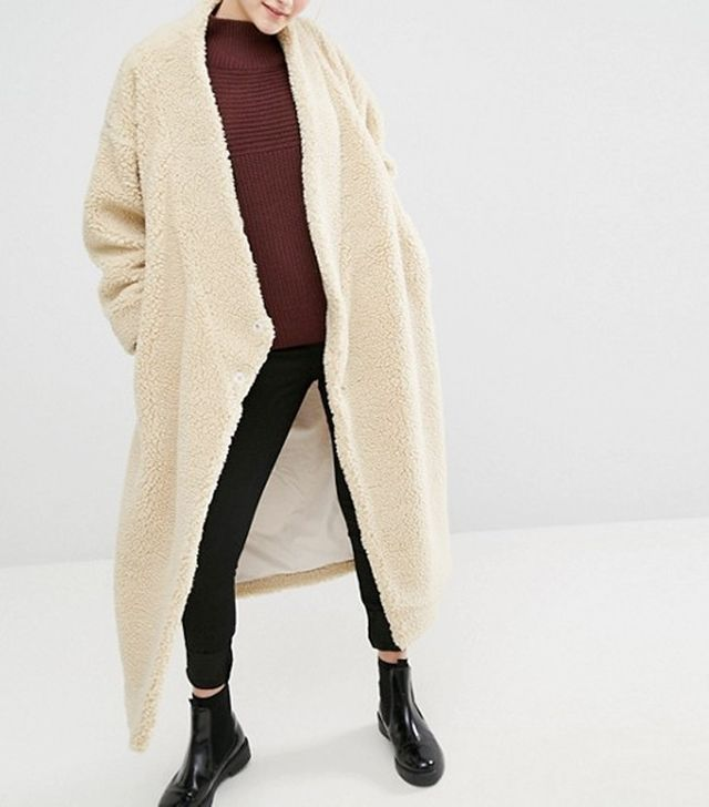Monki Shearling Coat