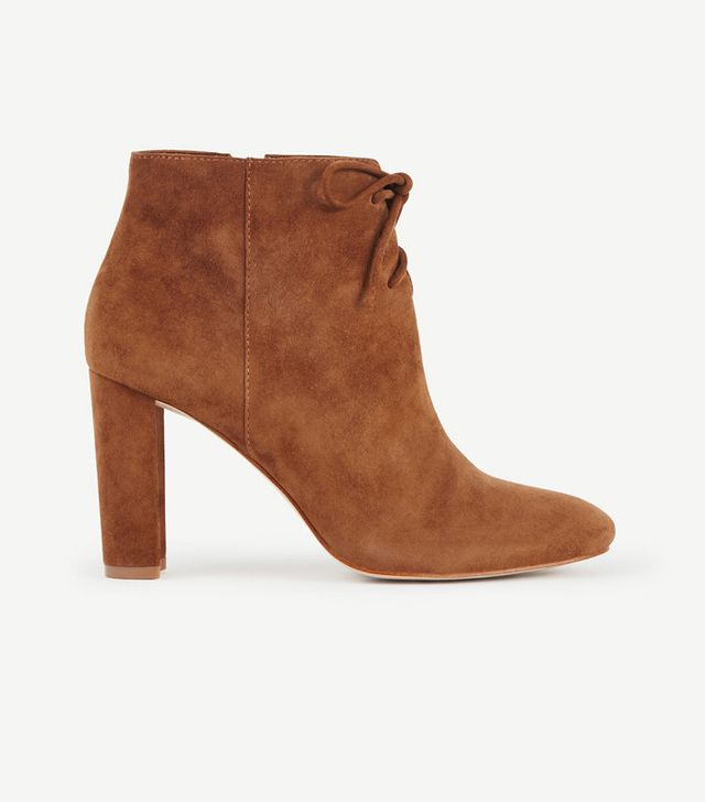 Ann Taylor Ophelia Lace-Up Ankle Boots