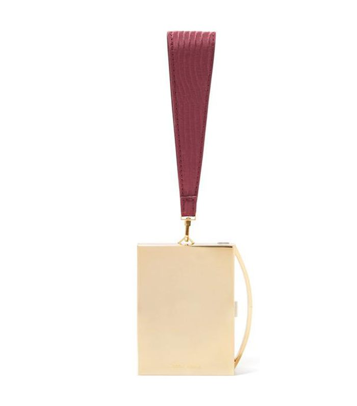 Lou Gold-tone And Leather Clutch
