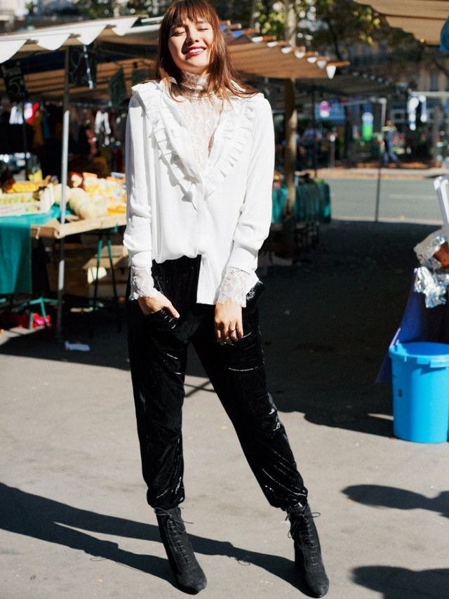 On Natalie Suarez: & Other Stories Frilly Blouse ($85), Lace-up Suede Boots ($235). The most boutique-style retailer on the high street has teamed up with model and...