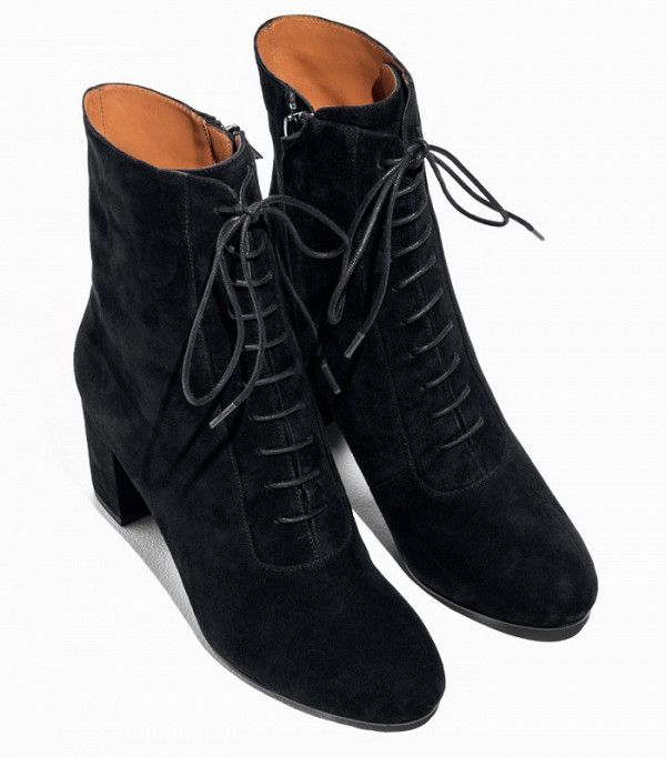 & Other Stories Lace-up Suede Boots