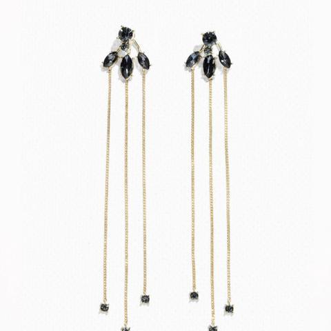 Stone Drop Pendant Earrings