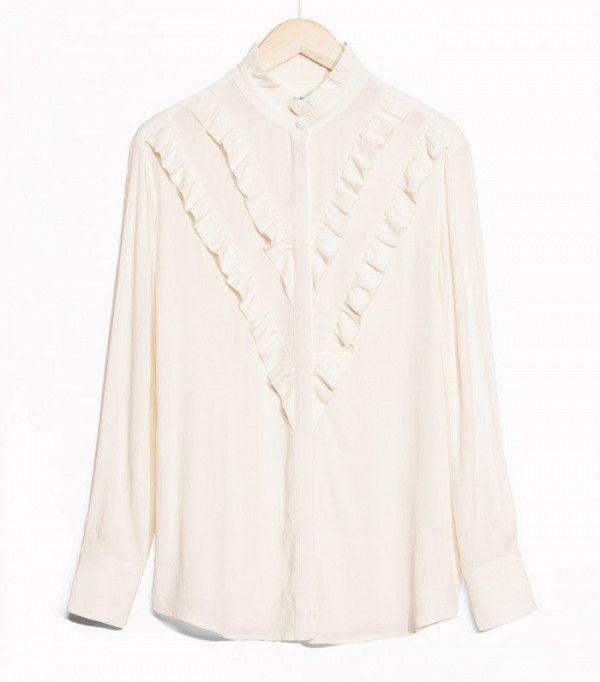 & Other Stories Frilly Blouse